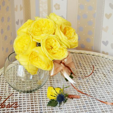 Buchet trandafiri David Aust